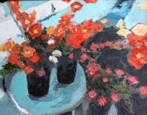 Lori Starkey Flowers Oil on Canvas