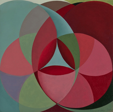 Lori Tremblay Vesica Piscis Series oil on board