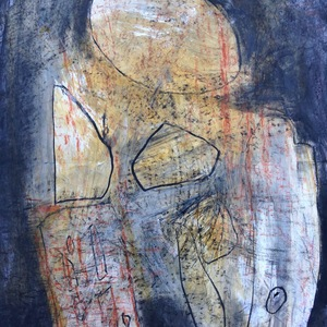 lorna watkins drawing Acrylic and charcoal on paper