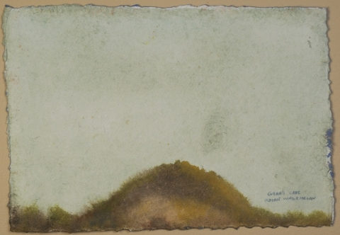 Mounds-2007-15 watercolor on handmade paper