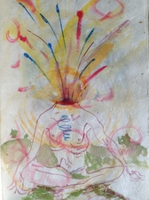 Louis Brawley Notes from the East 2006 watercolor and crayon on paper