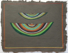 Louis Brawley Dark/Light Papers colored pencil on handmade paper