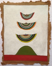 Louis Brawley Dark/Light Papers coloured pencil and gauche on handmade paper