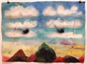 Louis Brawley Watercolours water-colour on handmade paper