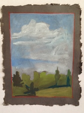 Louis Brawley Land   gouache on handmade paper