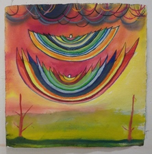 Louis Brawley New works watercolour, wax crayon and gouache on paper