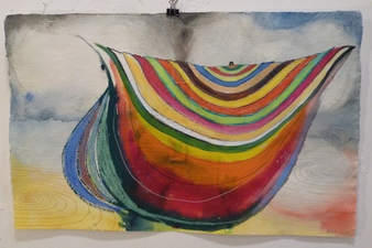 Louis Brawley Paintings 2016 Watercolour and wax crayon on paper