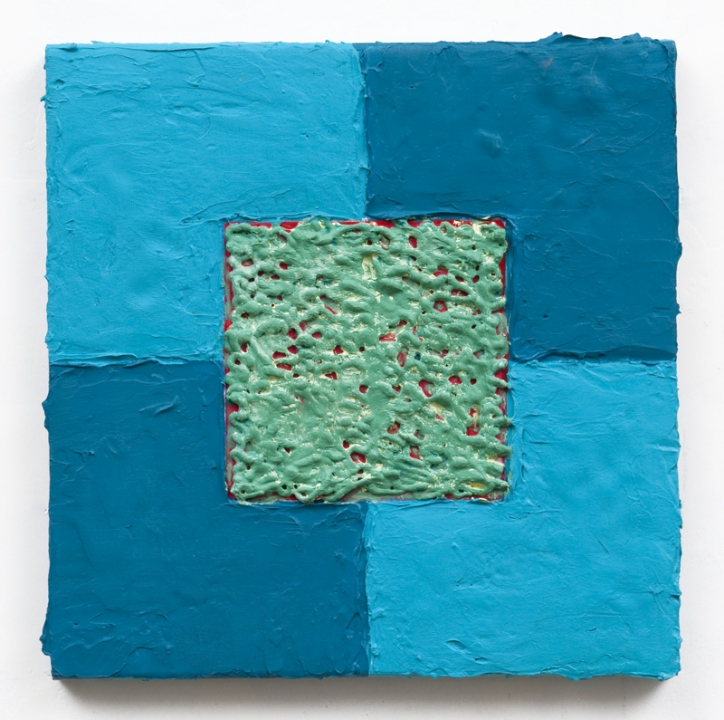 Louise P. Sloane Color/Square/Texture Acrylic Polymers and Paint on Aluminum Panel