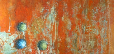 Louise Weinberg  Sphere Series- Emerging oil on canvas-