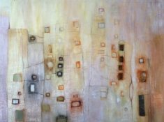 Louise Weinberg Buildingscapes oil on canvas