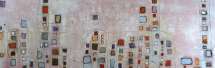 Louise Weinberg Buildingscapes oil on canvas -