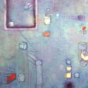 Louise Weinberg Urban Rhythms Oil on canvas SOLD