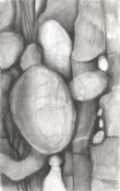 Louise Weinberg Rocks:Lost and Found charcoal on paper