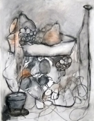 Louise Weinberg The Tension of Opposites - large drawings mixed media on Polymer
