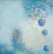 Louise Weinberg  Sphere Series- Emerging oil on canvvas