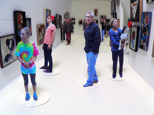"Opening reception for ""Orphans in the Storm"" October 3, 2014"