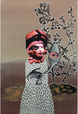 "Jane Lubin ""Postcard"" Collages Acrylic/Collage"