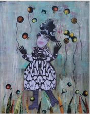 Jane Lubin Larger Collages Acrylic/Collage on Board