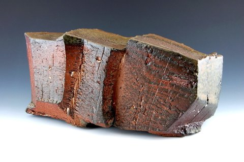 LUCIEN KOONCE ceramics SCULPTURE Wood fired Stoneware (Iron rich)