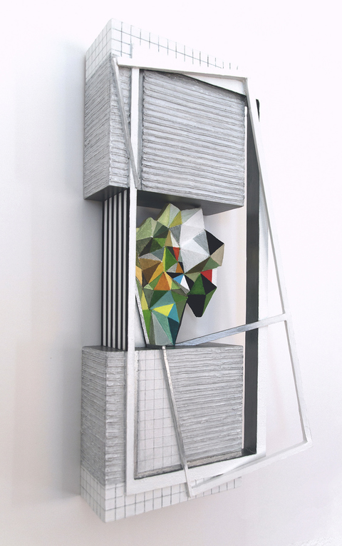 Small Constructions and Wall Sculptures wood, hardboard, aluminum plate, acrylic paint