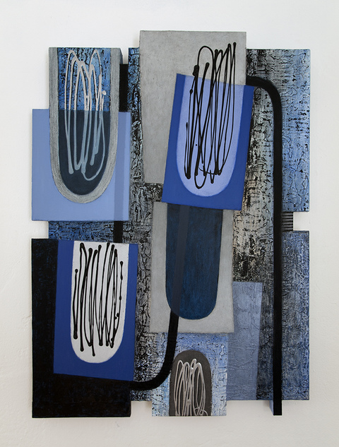 Shaped Paintings oil, acrylic on canvas over shaped panel