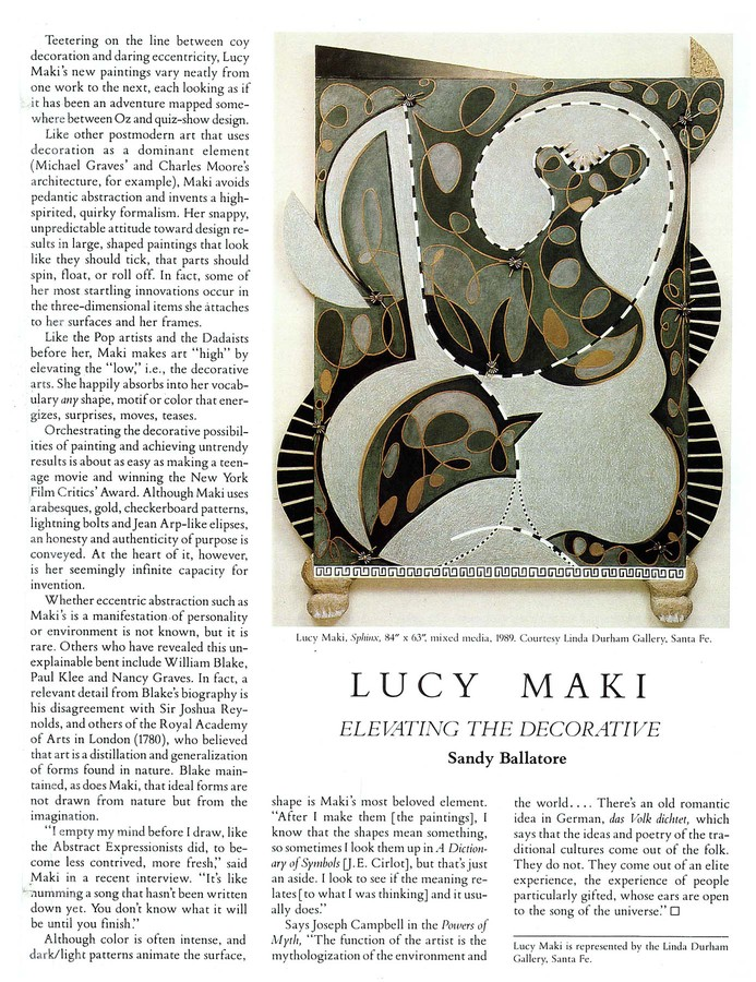 LUCY MAKI Early Articles and Reviews