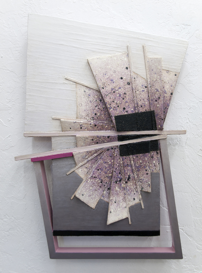 Small Constructions and Wall Sculptures Rose Madder