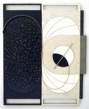 LUCY MAKI 1985-2010 Highlights oil on wood and canvas over shaped panel