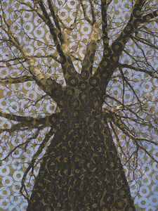 Lucy Meskill Tree Photograph on altered paper surface