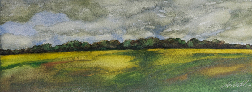 Lucy Meskill Wetland Watercolor on paper