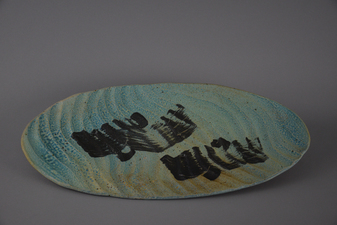 Lucy W. Scanlon 2015-2018 Marine Motif Tableware White stoneware, Slip, and Glaze