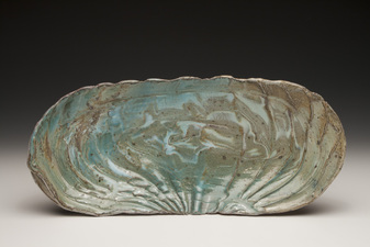 Lucy W. Scanlon Marine Motif Pieces - Recent  Mixed brown stoneware and porcelain, and glaze
