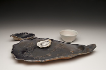 Lucy W. Scanlon Marine Motif Pieces - Recent  White stoneware and porcelain, glaze