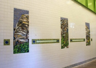 Luisa Caldwell Public Commissions glass, marble, onyx, granite and various stone mosaic