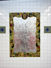 Luisa Caldwell Public Commissions glass, gold & silver leaf mosaic