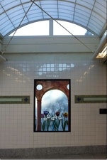 Luisa Caldwell Public Commissions hand painted laminated art glass
