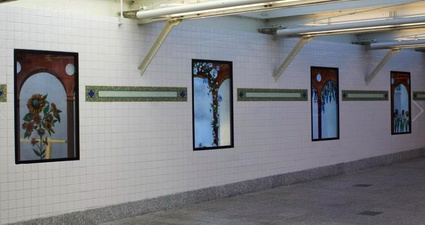 Luisa Caldwell Public Commissions hand painted laminated glass windows