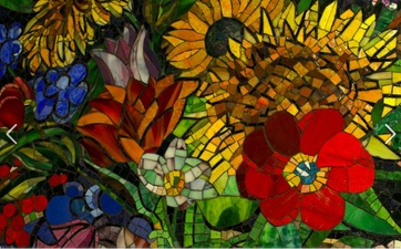 Luisa Caldwell Public Commissions Glass mosaic