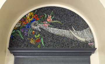 Luisa Caldwell Public Commissions glass mosaic on board