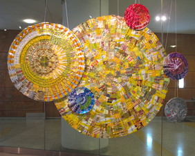 Luisa Caldwell Installations & Sculpture candy wrappers, gel medium, aluminum wire, string