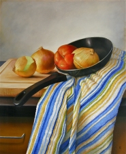 L  U  I  S   C  O  L  A  N Still Life oil on panel