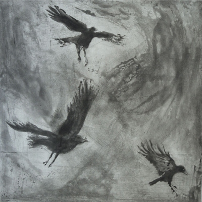 Larger Intaglio Crows A Murder of Crows no. 3 (landing)