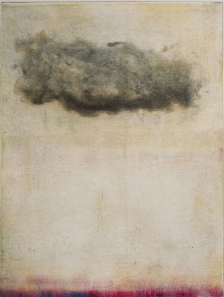 Intaglio Cloud Cloud (thin red)