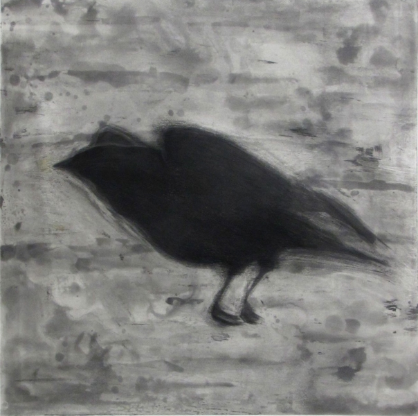 Larger Intaglio Crows A Murder of Crows no. 21 (single landing)
