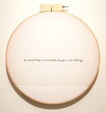 Mackenzie Boetes Work hand embroidery on fabric