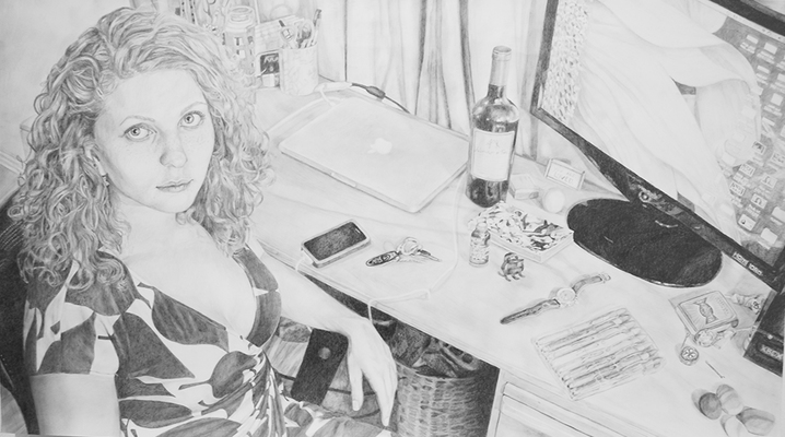 Maggie Shafran Drawing Pencil on Paper