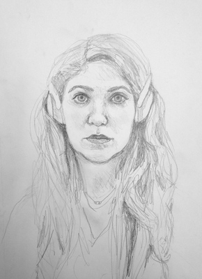 Maggie Shafran Left Hand Pencil on Paper