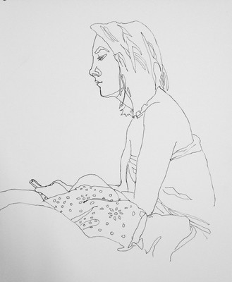 Maggie Shafran Left Hand Pen and ink on paper