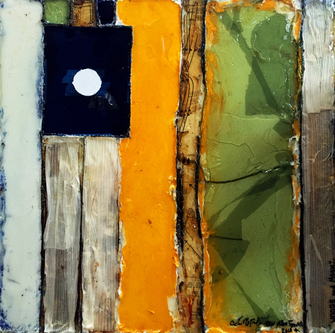 Erin McGee Ferrell. American Artist Gallery Maine Mixed Media on Wood