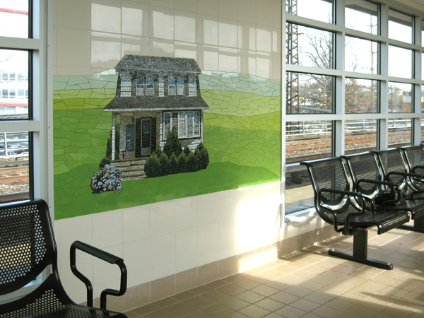2009 LIRR, Valley Stream (Platform waiting room)